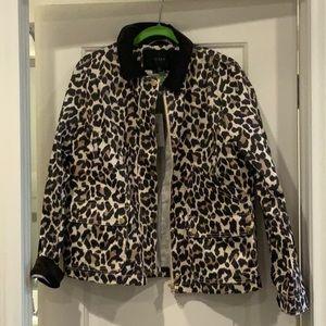 NWT J.Crew Leopard Barn Jacket Size L